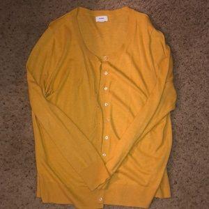 Old Navy Mustard Yellow Cardigan XL